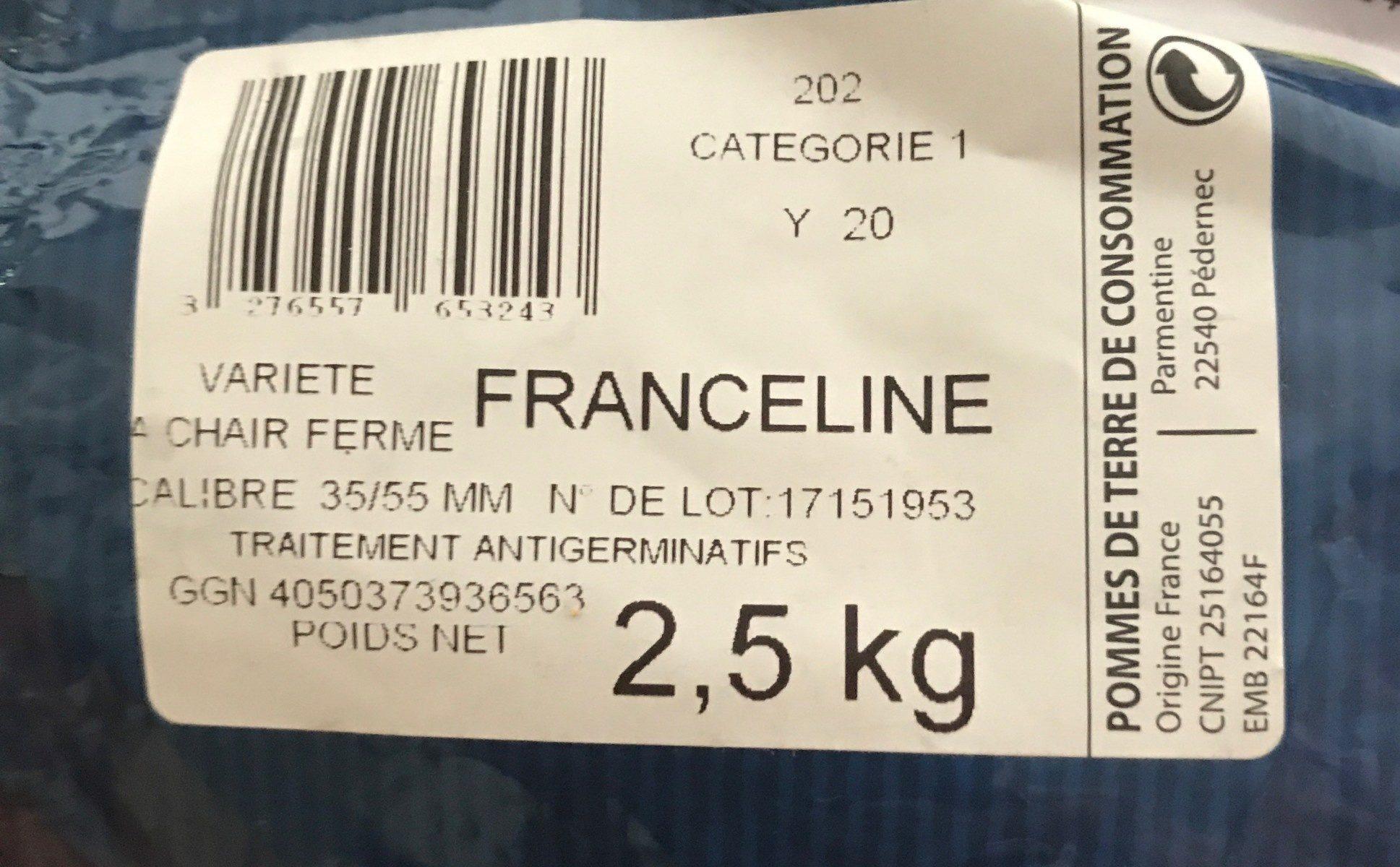 Pommes de terre rouges vapeur gratin rissolees - Ingrédients - fr