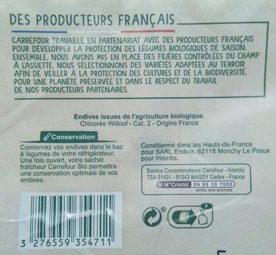 Endives bio - Ingrediënten