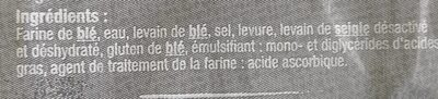 Baguette Rustique - Ingrédients - fr
