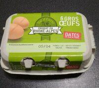 6 gros œufs - Produit - fr