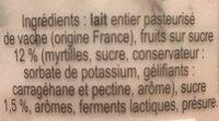 Fromage blanc battu myrtille - Ingredients - fr