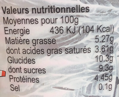 Fromage blanc battu myrtille - Nutrition facts - fr