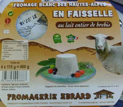Fromage blanc des Hautes-Alpes en faisselle au lait de brebis - Product - fr