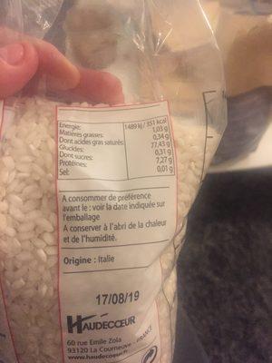 Riz Arborio Italie 1Kg, - Ingrédients - fr