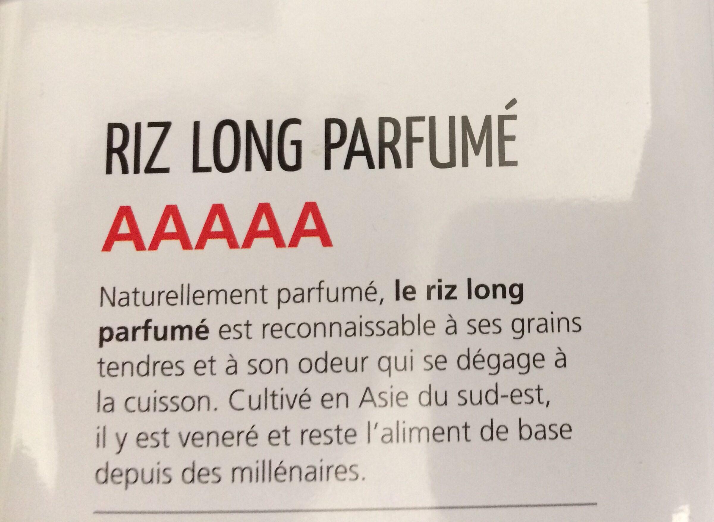 Riz long parfumé Riz du Monde - Ingrédients - fr