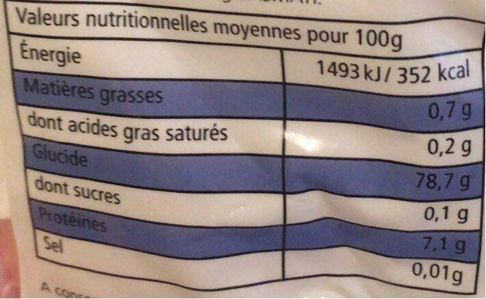 Riz long basmati qualité supérieure - Informations nutritionnelles - fr