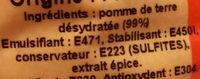 Flocons de pomme de terre - Ingrédients - fr