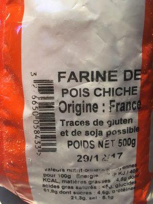 Farine De Pois Chiches 500G - Product