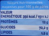 Spaghetti medi n° 3 - Informations nutritionnelles - fr