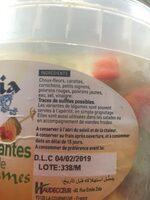 Variantes De Légumes - Ingredients