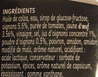 Sauce Alger aux Oignons - Ingrediënten