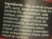 Sauce ketchup harissa - Ingredients