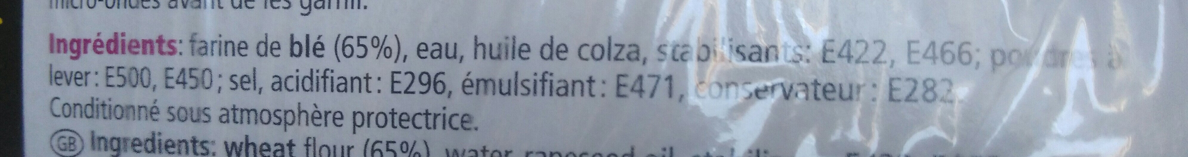 Mini durum - Ingredienti - fr