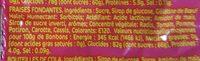 200G Bonbons Fraises Halal Samia - Nutrition facts - fr