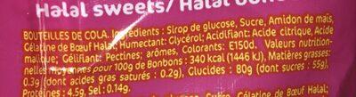 200G Bonbons Halal Btles Cola Samia - Ingrediënten