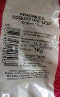 Arachides Coques Grillées - Ingrédients - fr