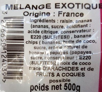 Mélange Fruits Exotiques Profruit - Ingrédients - fr