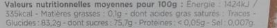 Mini Loukoum - Nutrition facts - fr