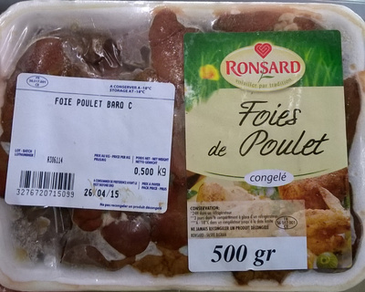 Foies de poulet congelés - Product - fr