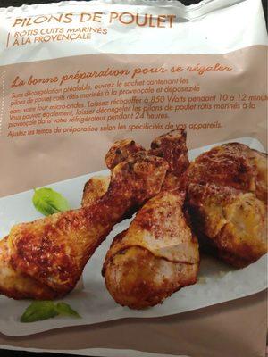 Pilons de poulet rotis cuits marinés à la provençale - Product