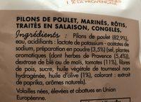 Pilons de poulet rotis cuits marinés à la provençale - Ingrediënten