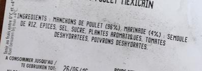 Morceaux choisis de Volaille à la Mexicaine - Ingredients - fr