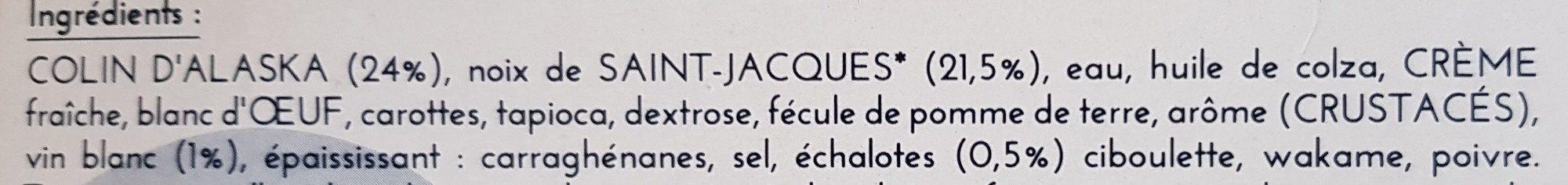 La Terrine aux Noix de Saint-Jacques à la Bretonne - Ingrédients