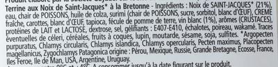 Les Terrines Marines Noix de St-Jacques à la Bretonne - Ingrédients - fr
