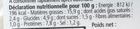 Les Terrines Marines Noix de St-Jacques à la Bretonne - Informations nutritionnelles - fr