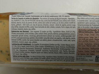 Terrine De Saumon Norvégienne 840G, 1 Pièce - Ingredients