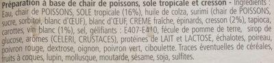 Terrine De Sole Tropicale 840 GR, 1 Pièce - Ingrédients - fr
