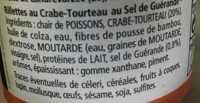 Rillette De Crabe - Ingredients