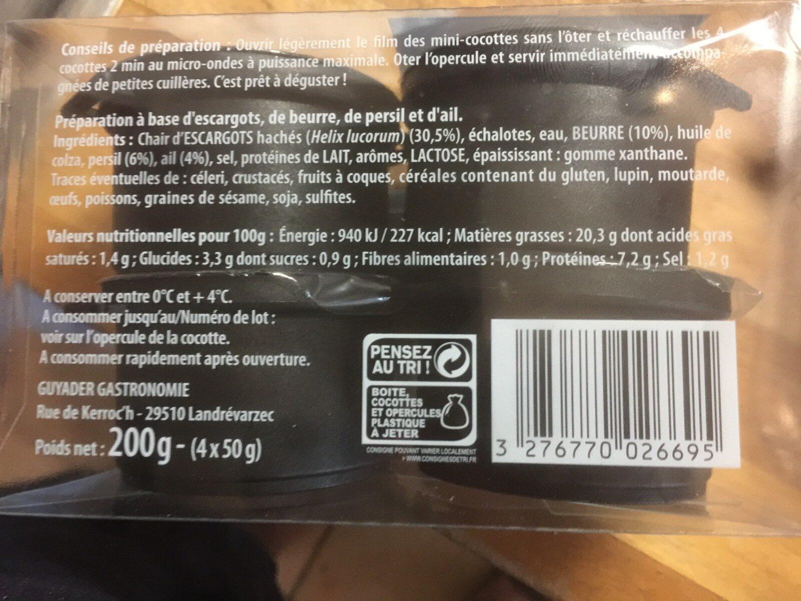 4 Mijotés Escargots et persillade - Inhaltsstoffe - fr