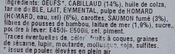 Cake Océane - Ingrédients