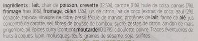 Verrines à la crevette coco curry et au fromage frais - Ingrédients - fr
