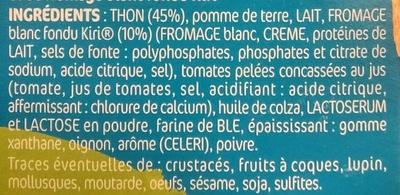 Tarti'Kids Thon & Kiri - Ingredients