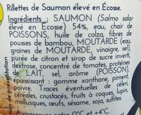 Rillettes de Saumon d'Ecosse - Ingrediënten - fr