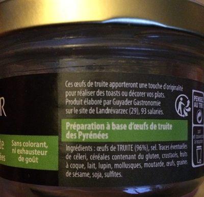 Oeufs de truite - Ingrediënten - fr
