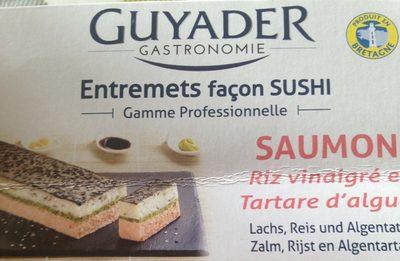 Entremets Façon Sushi : Saumon, Riz Vinaigré et Tartare d'Algues - Product