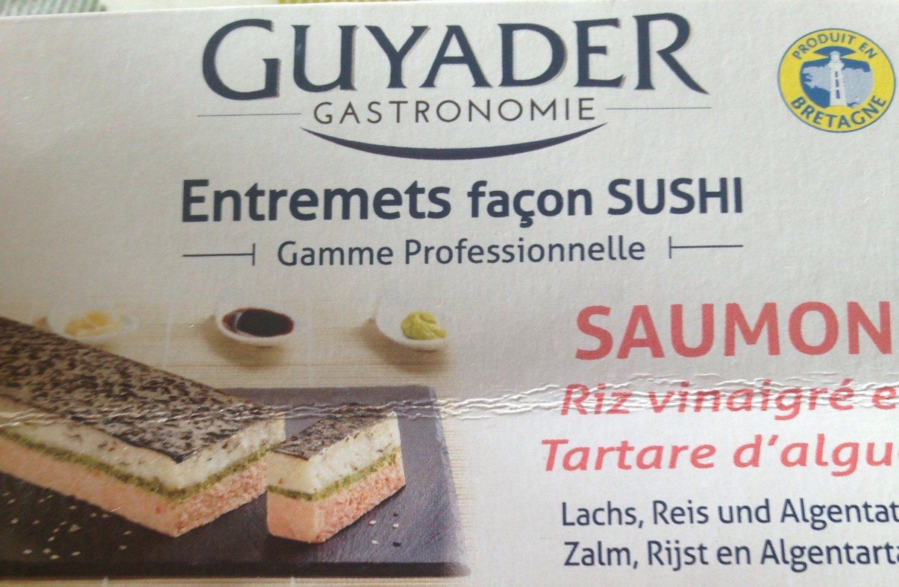 Entremets Façon Sushi : Saumon, Riz Vinaigré et Tartare d'Algues - Product - fr