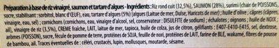 Entremets Façon Sushi : Saumon, Riz Vinaigré et Tartare d'Algues - Ingredients - fr