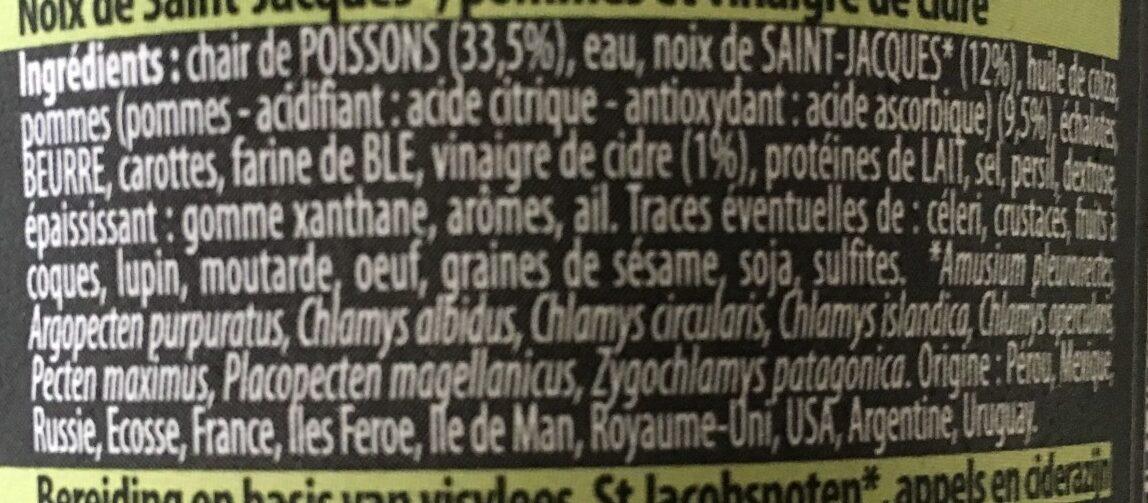 Noix de saint Jacques pomme et vinaigre - Ingredients - fr