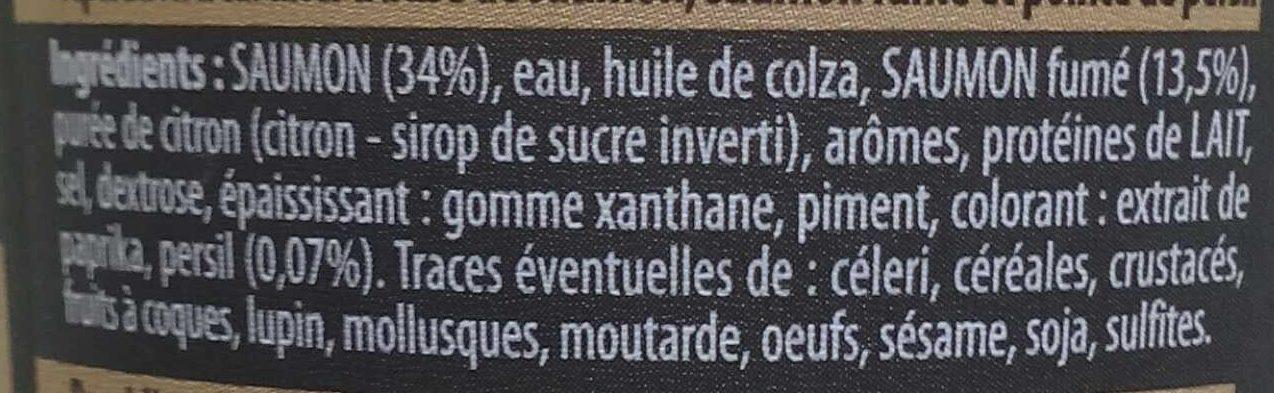 Spécial toast au Saumon & Saumon Fumé et pointe de persil - Ingrédients - fr