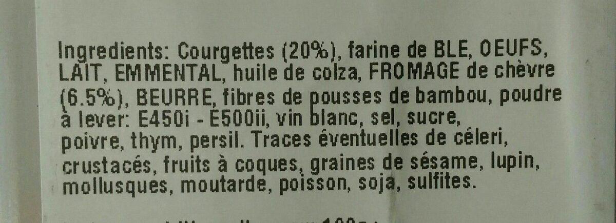 Cake chèvre et courgette - Ingrédients - fr
