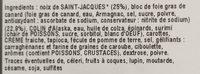 Entremets Saint-Jacques & Bloc de Foie Gras - Ingredients