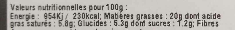 Entremets Saint-Jacques & Bloc de Foie Gras - Nutrition facts