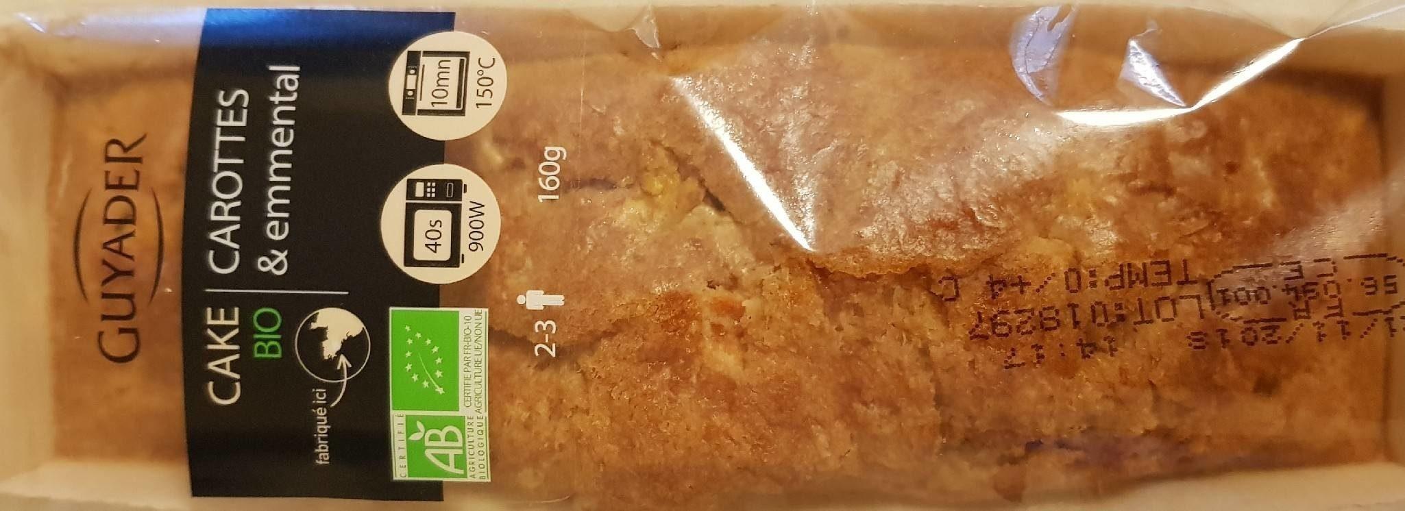Cake carottes & emmental - Produit - fr