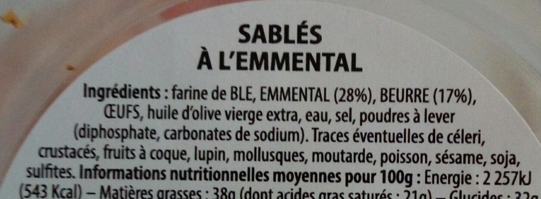 Sablés apéro à grignoter à l'Emmental français - Ingrédients - fr