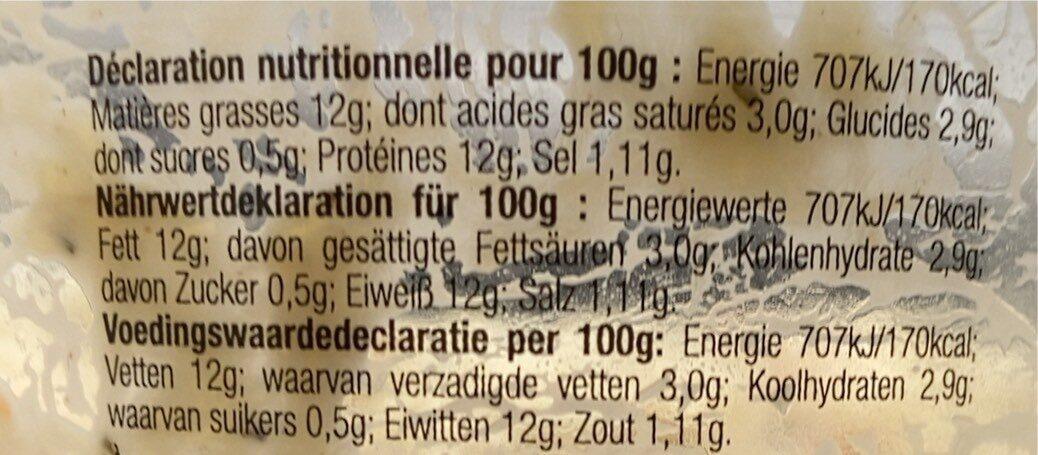 Rillettes St Jacques à la Bretonne - Informations nutritionnelles - fr