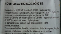 soufflés a l emmental - Ingrédients - fr